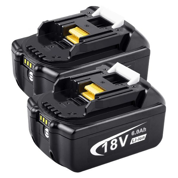 MAKITA [2Pack] 18V 6.0Ah High-Output Replacement Battery